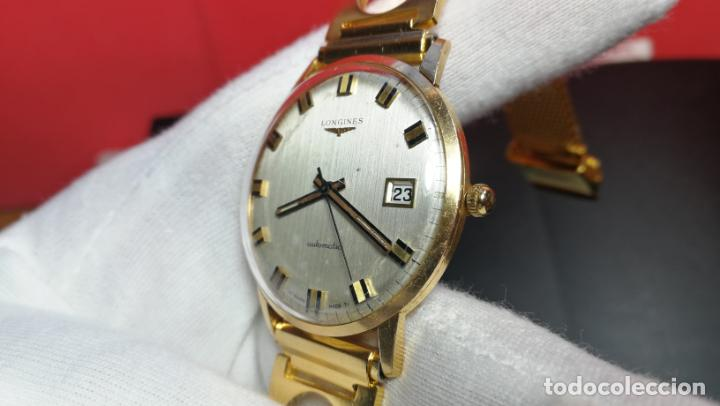 Relojes automáticos: MAGNIFICO RELOJ LONGINES AUTOMÁTICO de 1970, EN CAJA DE ORO DE 18K, Cal 505 - Foto 119 - 187434290