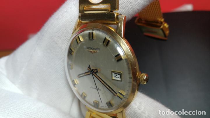 Relojes automáticos: MAGNIFICO RELOJ LONGINES AUTOMÁTICO de 1970, EN CAJA DE ORO DE 18K, Cal 505 - Foto 120 - 187434290