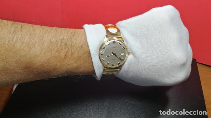 Relojes automáticos: MAGNIFICO RELOJ LONGINES AUTOMÁTICO de 1970, EN CAJA DE ORO DE 18K, Cal 505 - Foto 126 - 187434290