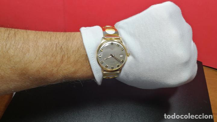 Relojes automáticos: MAGNIFICO RELOJ LONGINES AUTOMÁTICO de 1970, EN CAJA DE ORO DE 18K, Cal 505 - Foto 127 - 187434290