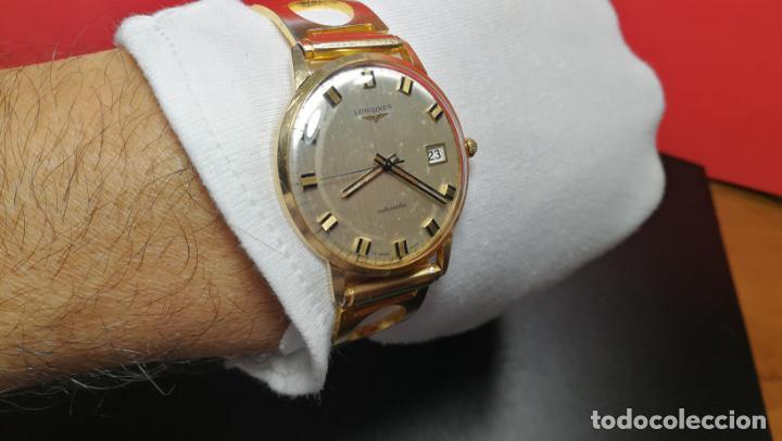 Relojes automáticos: MAGNIFICO RELOJ LONGINES AUTOMÁTICO de 1970, EN CAJA DE ORO DE 18K, Cal 505 - Foto 136 - 187434290