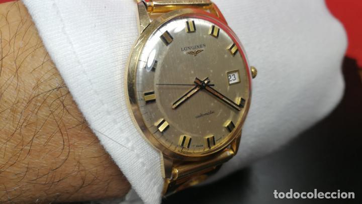 Relojes automáticos: MAGNIFICO RELOJ LONGINES AUTOMÁTICO de 1970, EN CAJA DE ORO DE 18K, Cal 505 - Foto 137 - 187434290