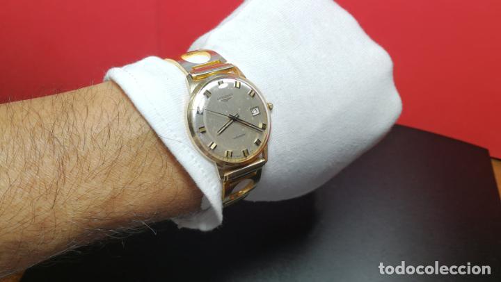 Relojes automáticos: MAGNIFICO RELOJ LONGINES AUTOMÁTICO de 1970, EN CAJA DE ORO DE 18K, Cal 505 - Foto 138 - 187434290
