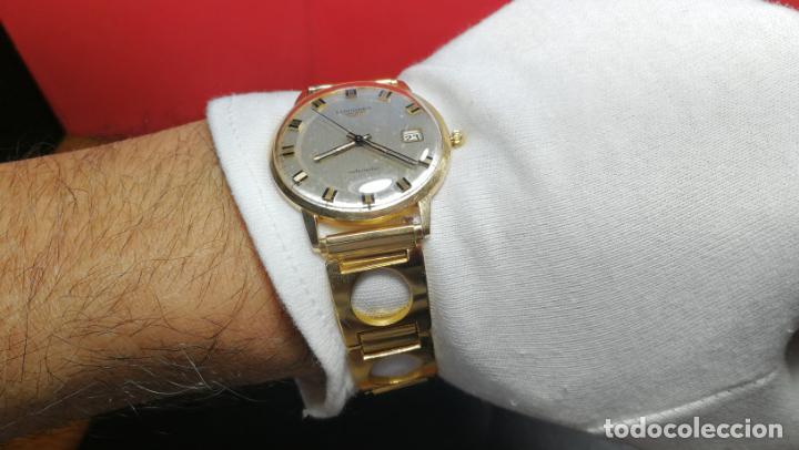 Relojes automáticos: MAGNIFICO RELOJ LONGINES AUTOMÁTICO de 1970, EN CAJA DE ORO DE 18K, Cal 505 - Foto 139 - 187434290