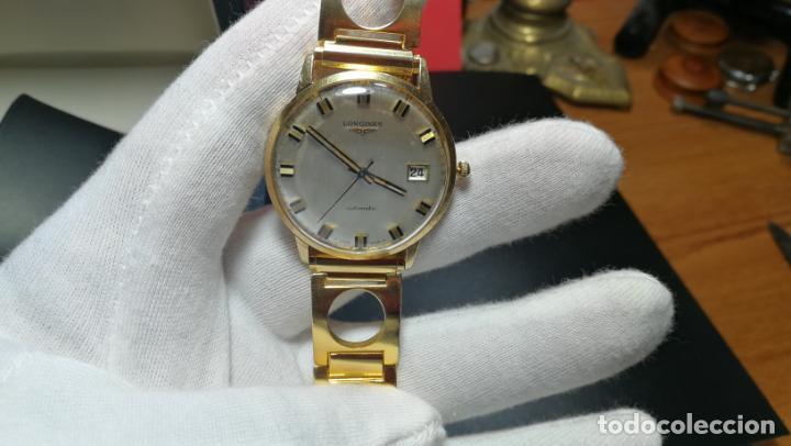 Relojes automáticos: MAGNIFICO RELOJ LONGINES AUTOMÁTICO de 1970, EN CAJA DE ORO DE 18K, Cal 505 - Foto 148 - 187434290