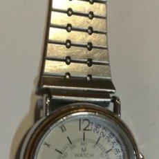 Relojes automáticos: RELOJ PULSERA M WATCH MONDAINE CON CORREA ACERO INOXIDABLE. Lote 187464738