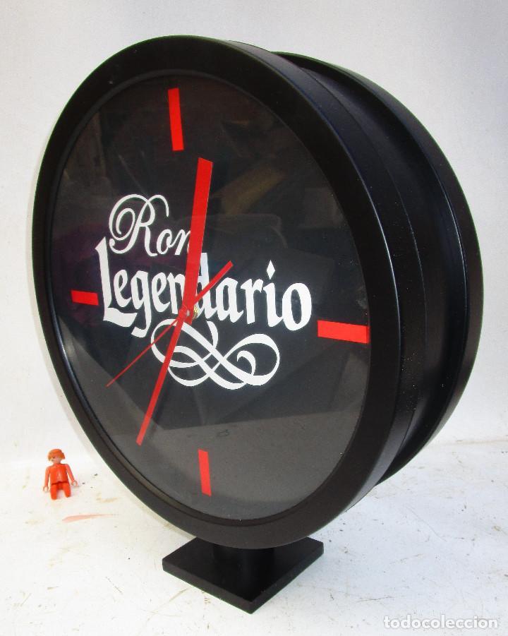 GRAN RELOJ TIPO ESTACION , DOBLE, RON LEGENDARIO, SIN USO (Relojes - Relojes Automáticos)
