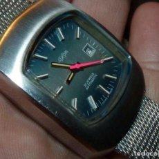 Relojes automáticos: PRECIOSO RELOJ LUXOR AUTOMÁTICO TODO ACERO SWISS MADE VINTAGE AÑOS 70 MILANESA COLECCIÓN. Lote 189437225