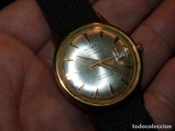 Relojes automáticos: BONITO RELOJ MORTI PRIMA CALIBRE AUTOMATICO EB 8126 SWISS MADE 21 RUBIS 1965 - Foto 6 - 189440058