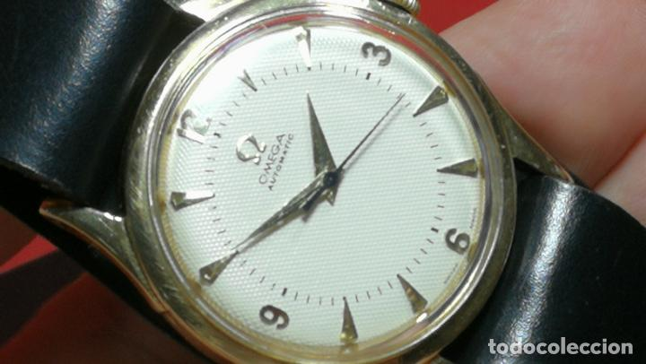 Relojes automáticos: RELOJ OMEGA AUTOMÁTICO BOOMPER CHONOMETRE DEL AÑO 1954 CAL 354 en CAJA DE ORO de 18K - Foto 62 - 190390533