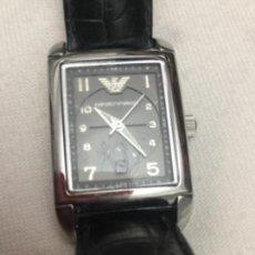 Relojes automáticos: RELOJ EMPORIO ARMANI, MODEL AR 274. CAJA RECTANGULAR DE ACERO INOXIDABLE. AUTÉNTICO.. Lote 190440193