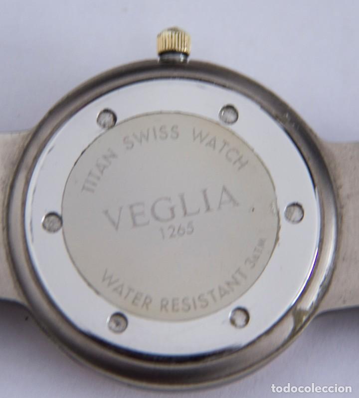 Relojes automáticos: Reloj Caballero Suizo de titanio VEGLIA con calendario - Resistente al agua 30m - Funcionando - Foto 3 - 190884058