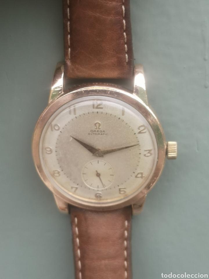 Relojes automáticos: Reloj omega automático bumper de 1940 en ıamina 80 micrones de oro 18k - Foto 2 - 191008863