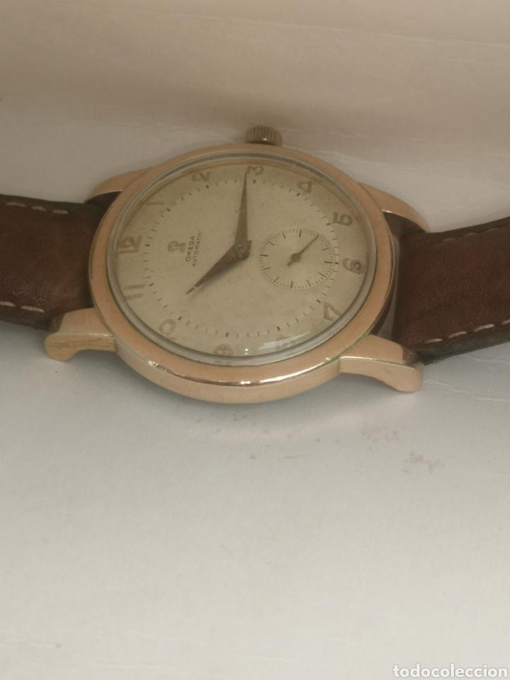 Relojes automáticos: Reloj omega automático bumper de 1940 en ıamina 80 micrones de oro 18k - Foto 3 - 191008863
