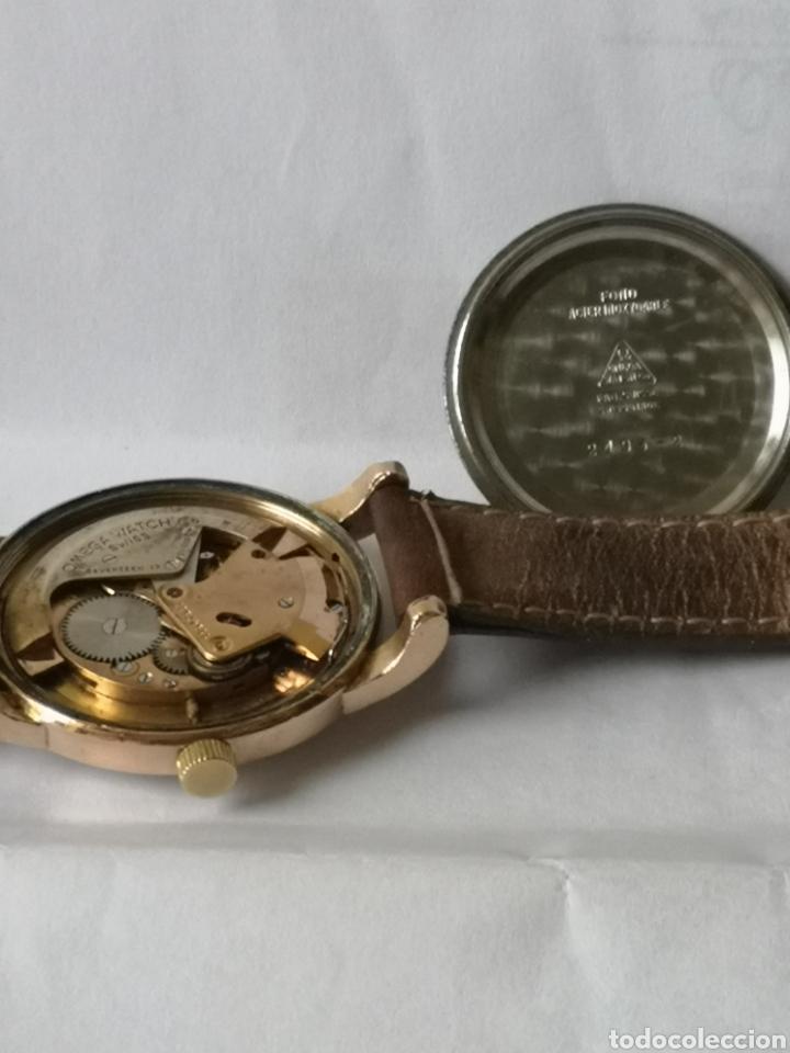 Relojes automáticos: Reloj omega automático bumper de 1940 en ıamina 80 micrones de oro 18k - Foto 9 - 191008863