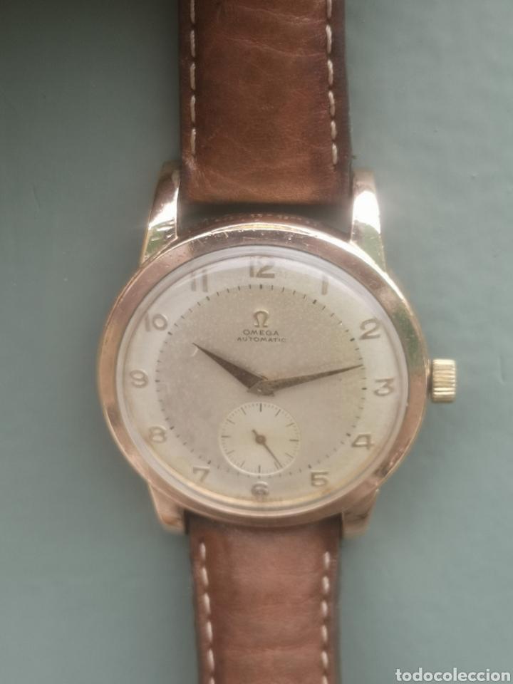 RELOJ OMEGA AUTOMÁTICO BUMPER DE 1940 EN IAMINA 80 MICRONES DE ORO 18K (Relojes - Relojes Automáticos)
