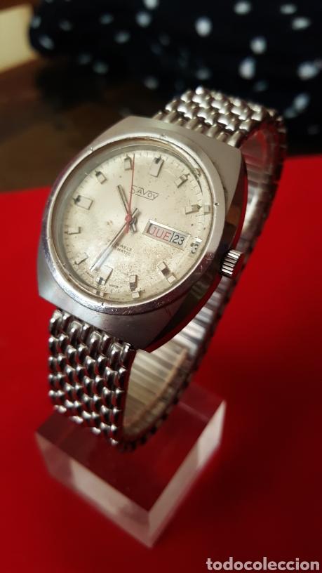 Relojes automáticos: RELOJ SWSS SAVOY 25RUVIS AUTOMATICO DOBLE CALENDARIO FUNCIONA PERFECTAMENTE DIÁMETRO 37MLTROS - Foto 3 - 191771437