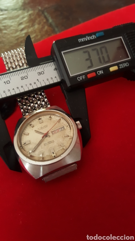 Relojes automáticos: RELOJ SWSS SAVOY 25RUVIS AUTOMATICO DOBLE CALENDARIO FUNCIONA PERFECTAMENTE DIÁMETRO 37MLTROS - Foto 6 - 191771437