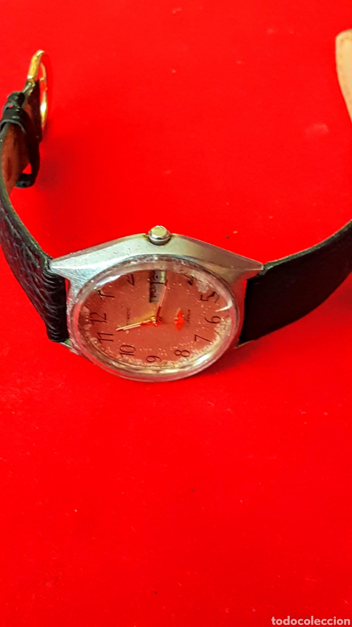 Relojes automáticos: Reloj CITIZEN AUTOMATICO 21JEWUELS DOBLE CALENDARIO FUNCIONA PERFECTAMENTE DIÁMETRO36milimetros - Foto 2 - 191777861