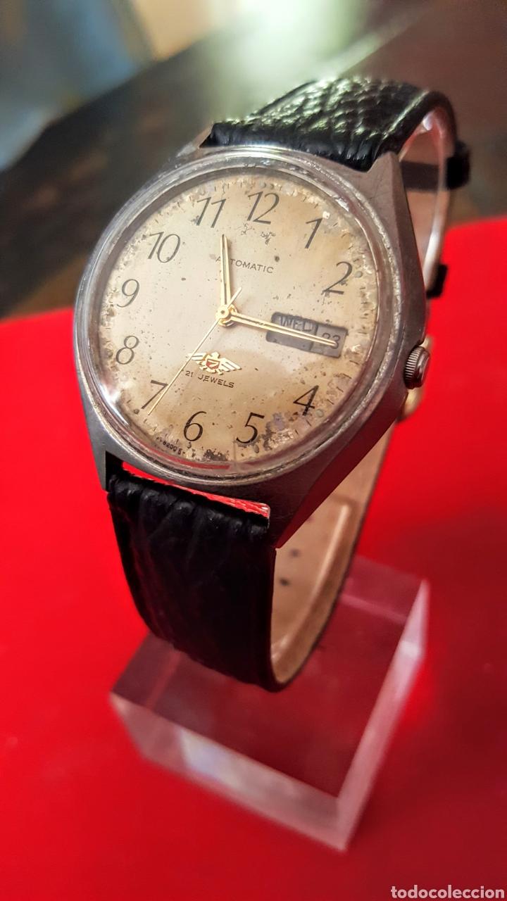 Relojes automáticos: Reloj CITIZEN AUTOMATICO 21JEWUELS DOBLE CALENDARIO FUNCIONA PERFECTAMENTE DIÁMETRO36milimetros - Foto 3 - 191777861
