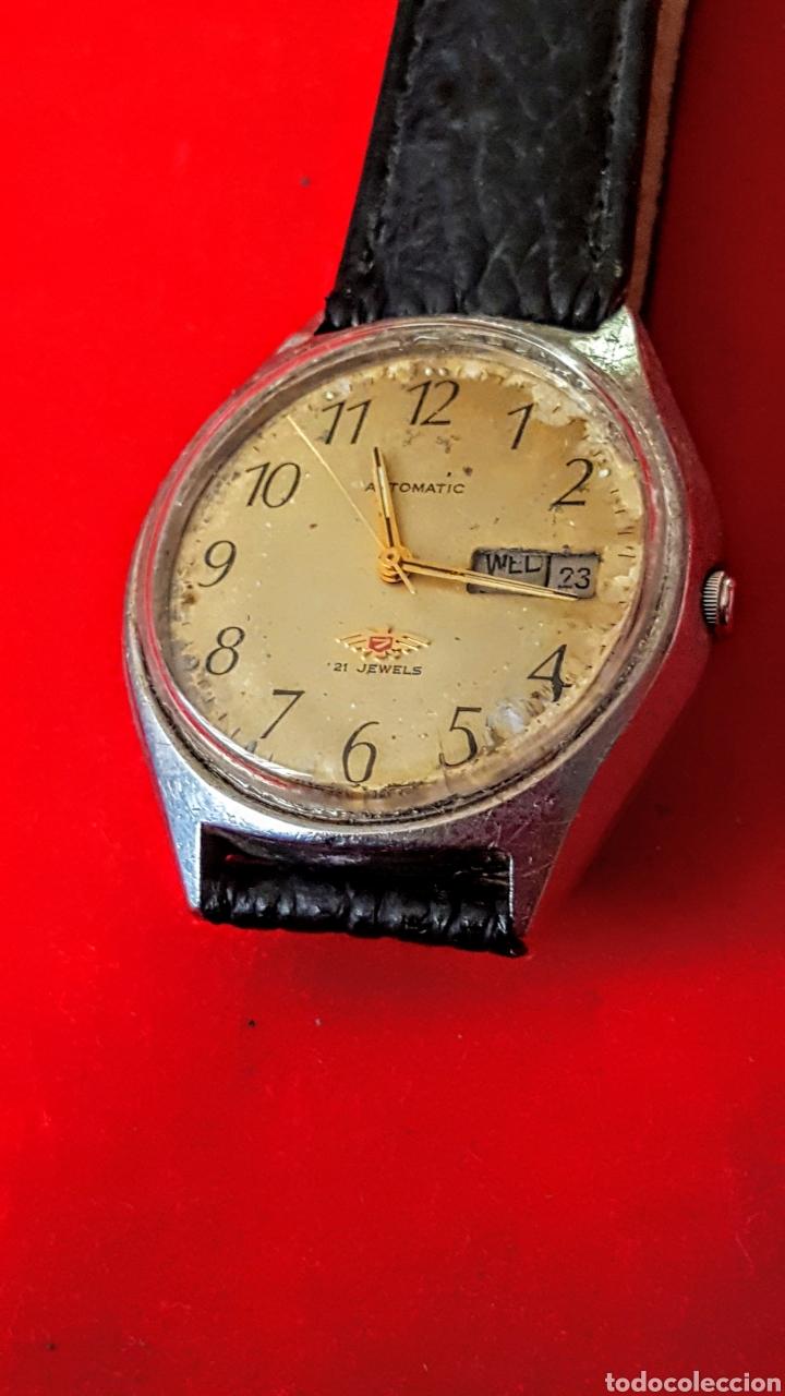 Relojes automáticos: Reloj CITIZEN AUTOMATICO 21JEWUELS DOBLE CALENDARIO FUNCIONA PERFECTAMENTE DIÁMETRO36milimetros - Foto 4 - 191777861