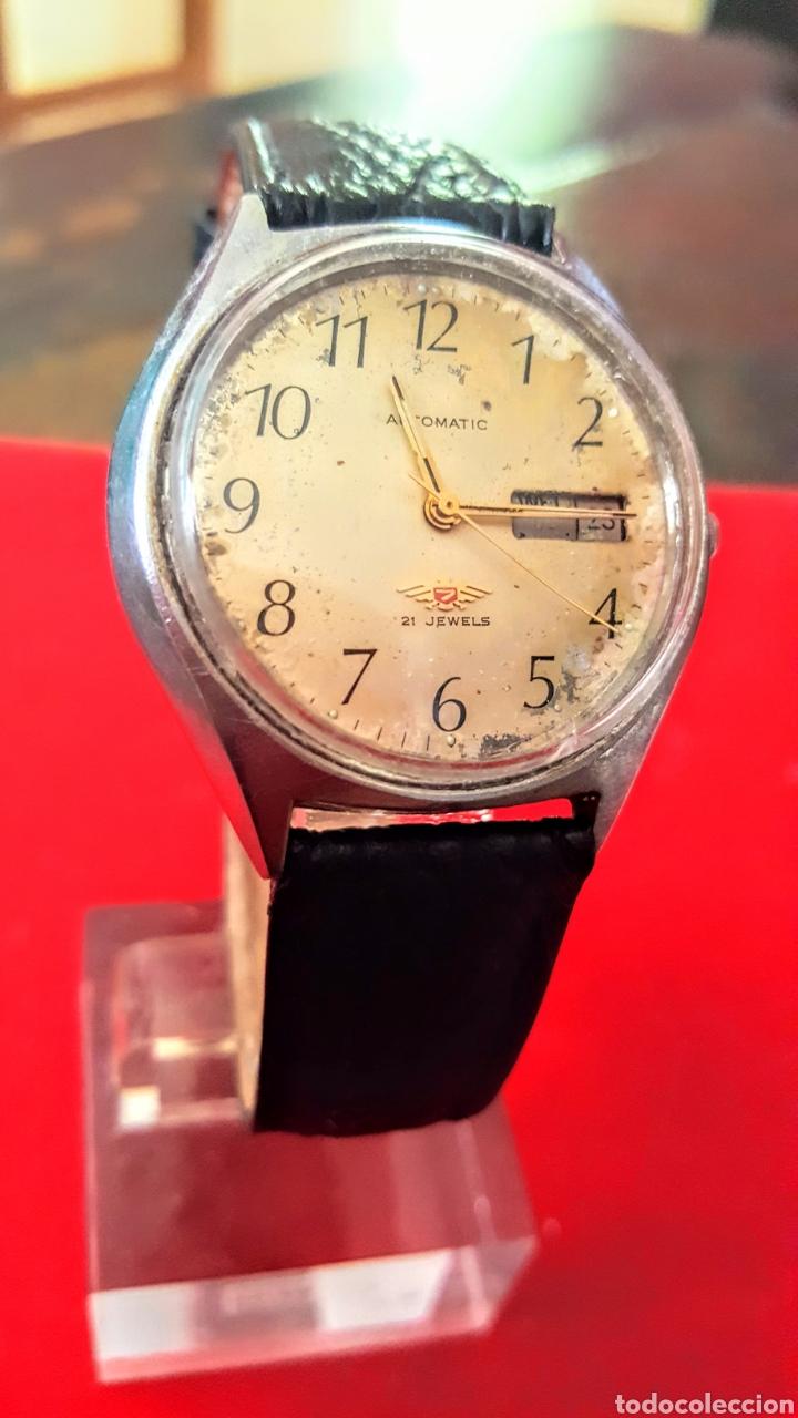 Relojes automáticos: Reloj CITIZEN AUTOMATICO 21JEWUELS DOBLE CALENDARIO FUNCIONA PERFECTAMENTE DIÁMETRO36milimetros - Foto 5 - 191777861
