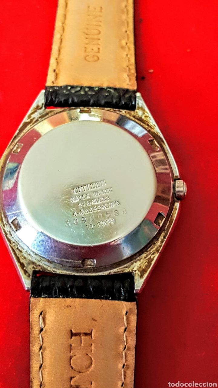 Relojes automáticos: Reloj CITIZEN AUTOMATICO 21JEWUELS DOBLE CALENDARIO FUNCIONA PERFECTAMENTE DIÁMETRO36milimetros - Foto 6 - 191777861