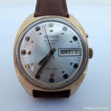 Relojes automáticos: RELOJ RUSO SEKONDA URSS- ORO CHAPADO AU 1 -27 RUBÍES-AUTOMATICOS PARA EXPORTAR.. Lote 194194901