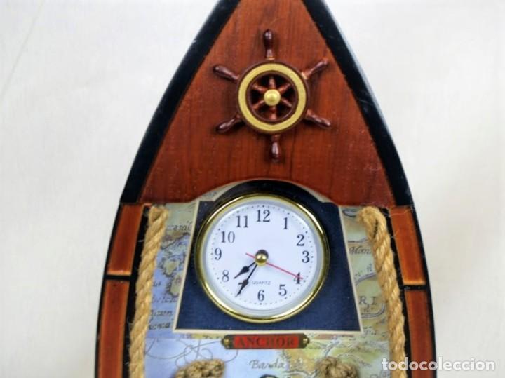 Relojes automáticos: Bonito reloj de pared en madera en forma de barco - Foto 2 - 194223810