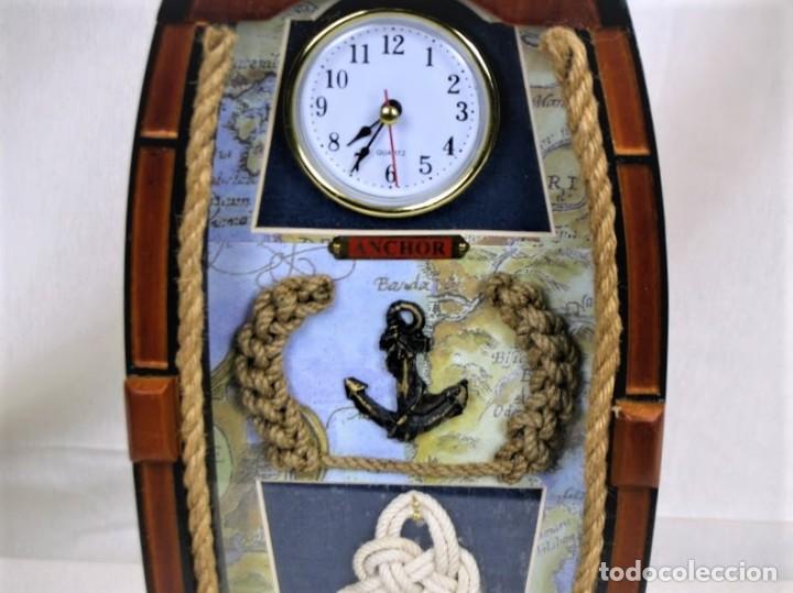 Relojes automáticos: Bonito reloj de pared en madera en forma de barco - Foto 3 - 194223810