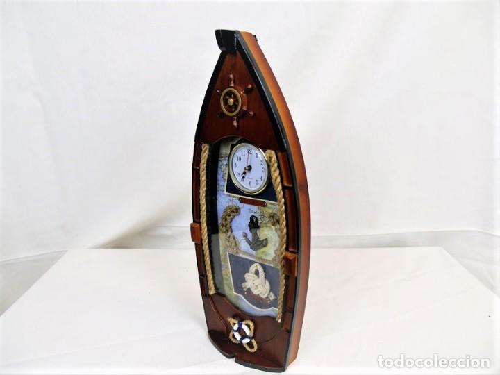 Relojes automáticos: Bonito reloj de pared en madera en forma de barco - Foto 6 - 194223810