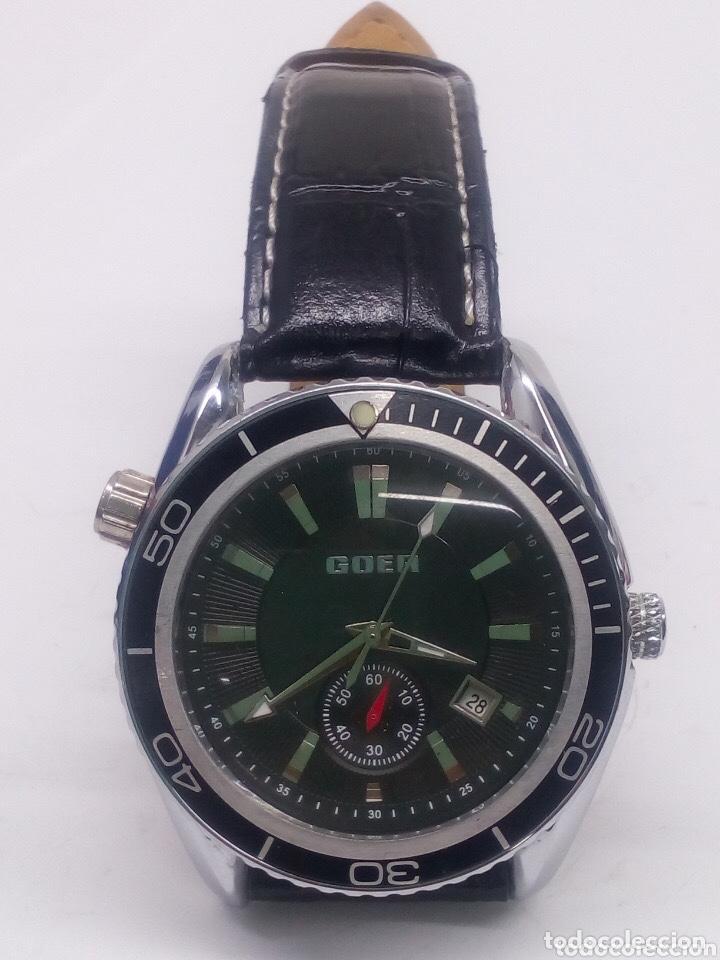 Relojes automáticos: reloj automatico esfera giratoria Goer funcionando de hombre - Foto 5 - 194307098