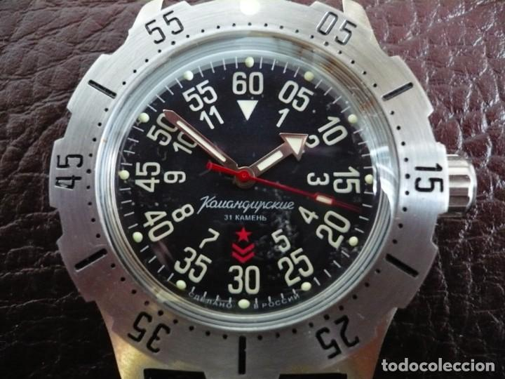 VOSTOK -ANFIBIO-SUBMARINER RUSIA EXTRA LUJO 31 RUBIES, AUTOMÁTICO CON SU ESTUCHE E INSTRUCCIONES (Relojes - Relojes Automáticos)