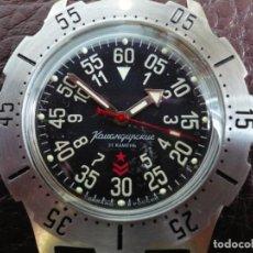 Relojes automáticos: VOSTOK -ANFIBIO-SUBMARINER RUSIA EXTRA LUJO 31 RUBIES, AUTOMÁTICO CON SU ESTUCHE E INSTRUCCIONES. Lote 194312593