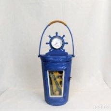 Relojes automáticos: BONITO ARMARIO LLAVERO RELOJ DE PARED EN MADERA. Lote 194363312