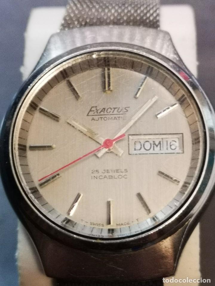 Relojes automáticos: reloj automático exactus incabloc 25 jewels - Foto 3 - 194525813