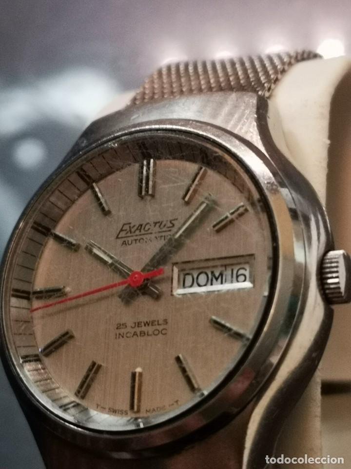 Relojes automáticos: reloj automático exactus incabloc 25 jewels - Foto 4 - 194525813