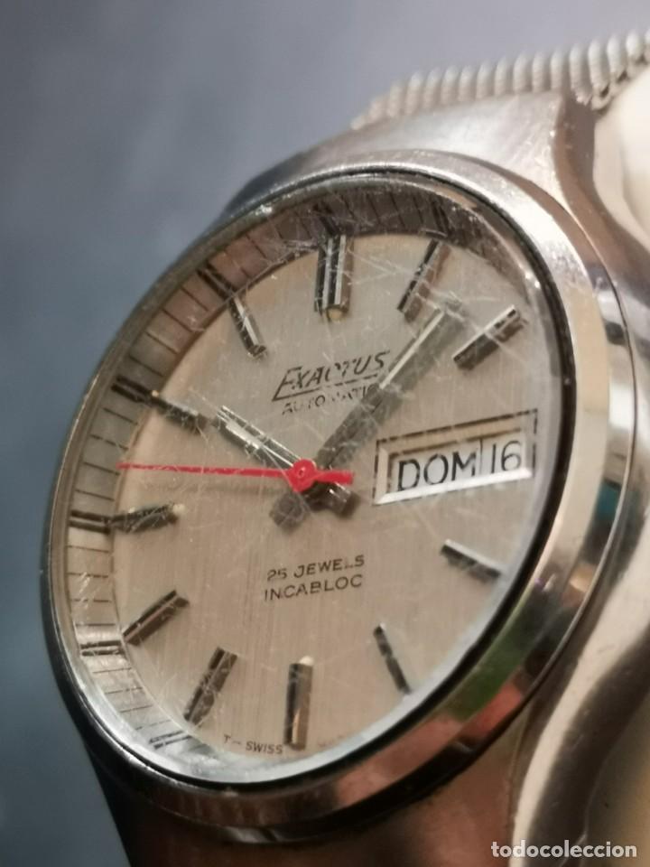 Relojes automáticos: reloj automático exactus incabloc 25 jewels - Foto 5 - 194525813