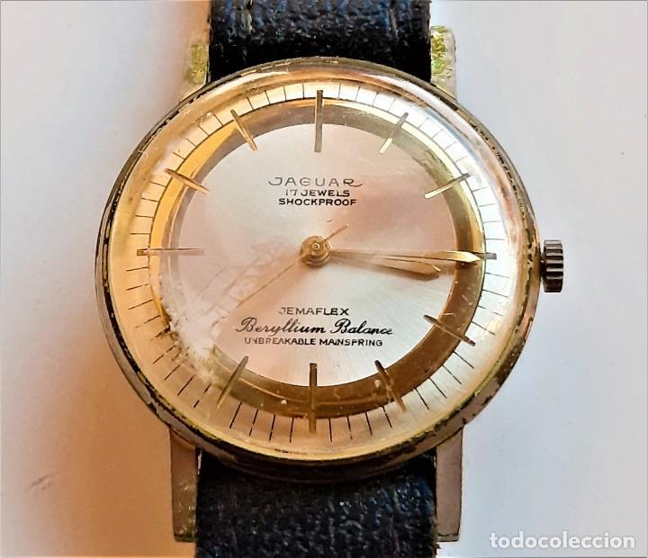 RELOJ JAGUAR SUIZO 17 JEWELS MECANICO - CAJA 35.MM DIAMETRO (Relojes - Relojes Automáticos)