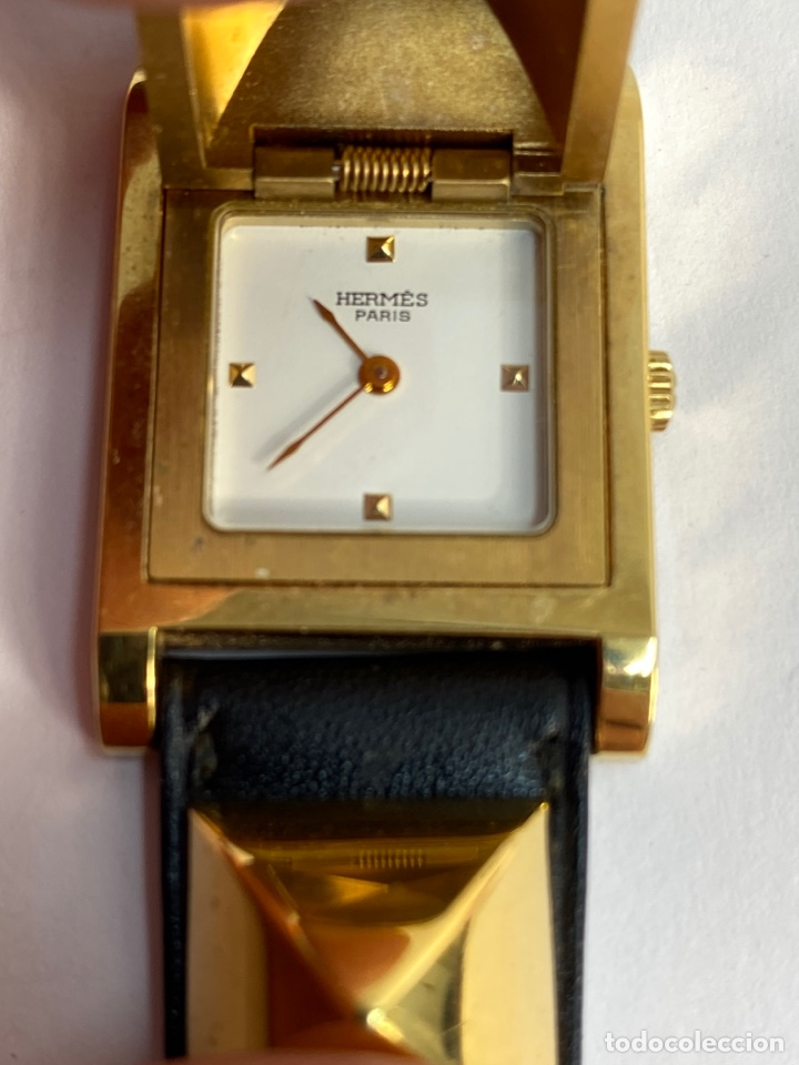 Relojes automáticos: REOJ HERMES PARA MUJER. MODELO MEDOR. S.XX. - Foto 6 - 194860853