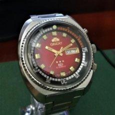 Relojes automáticos: ORIENT AUTOMATICO KD TRES TORNILLOS ROJO SANGRE DE TORO. Lote 194894547