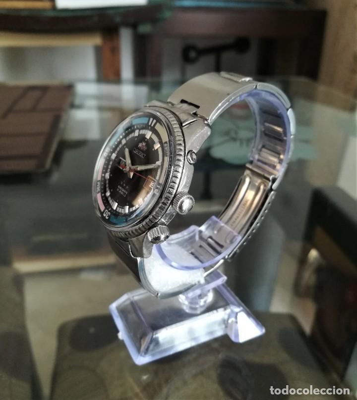 Relojes automáticos: Orient King Diver Negro 2 ventanas Años 60's - Foto 2 - 194906728