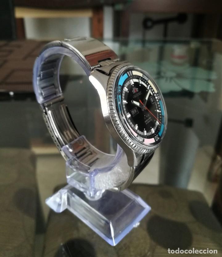 Relojes automáticos: Orient King Diver Negro 2 ventanas Años 60's - Foto 4 - 194906728