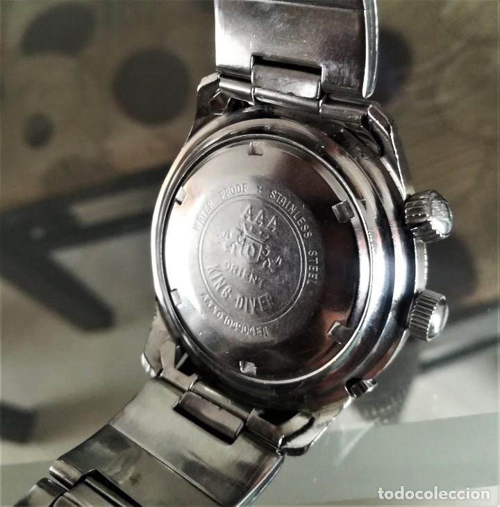 Relojes automáticos: Orient King Diver Negro 2 ventanas Años 60's - Foto 5 - 194906728