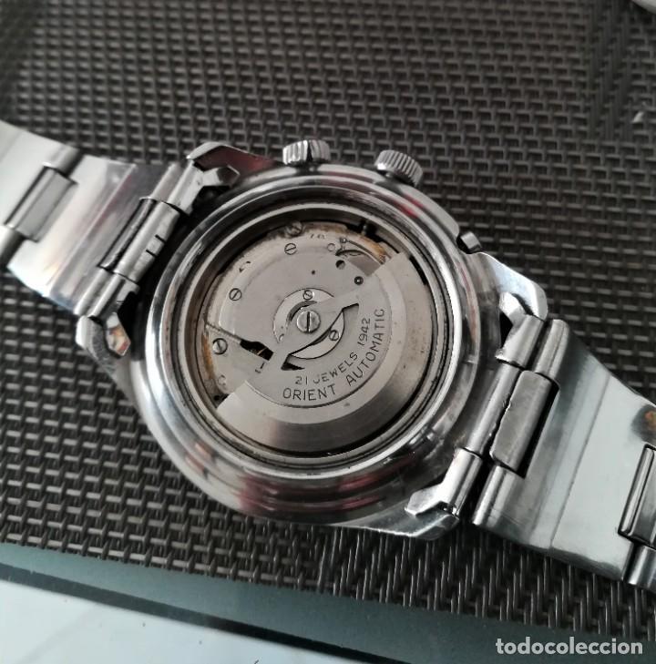 Relojes automáticos: Orient King Diver Negro 2 ventanas Años 60's - Foto 7 - 194906728