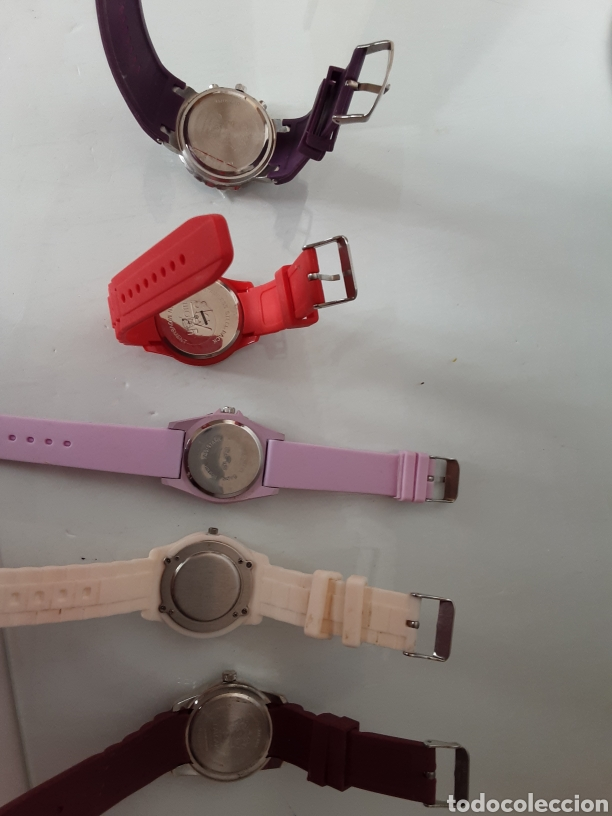 Relojes automáticos: Lote 5 relojes coloridos - Foto 3 - 195004048