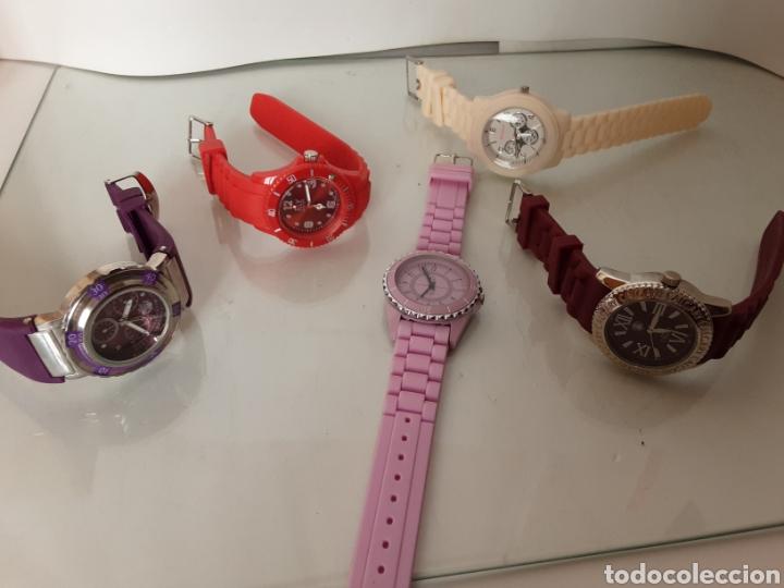 Relojes automáticos: Lote 5 relojes coloridos - Foto 4 - 195004048