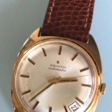 Relojes automáticos: RELOJ ZENITH ORO 18 QUILATES AÑOS 70. Lote 195073296