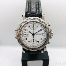 Relojes automáticos: RELOJ AUTOMÁTICO CRONOGRAFO AMYRIA ETA 7750 NEW OLD STOCK. Lote 195126277