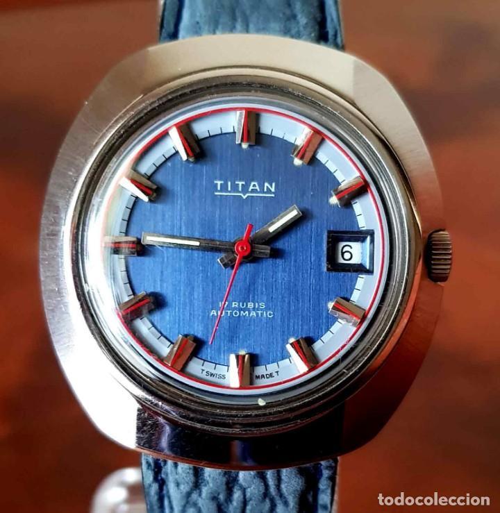 RELOJ TITAN AUTOMATICO, SWISS MADE, VINTAGE, NOS (NEW OLD STOCK) (Relojes - Relojes Automáticos)